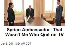 Syrian Ambassador Lamia Shakkour: That Wasn't Me Who Quit on TV