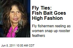 High Fashion or Bait? Fly Ties Now Hair Extensions