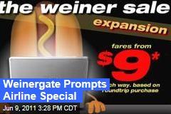 Anthony Weiner's Weinergate Scandal Prompts Spirit Airlines Sale
