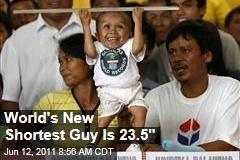 "World's Shortest Man, Junrey Balawing, Is 23.5"" Tall"