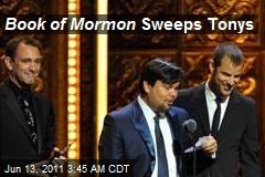 Book of Mormon Sweeps Tonys