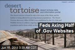 Feds Axing Half of .Gov Websites