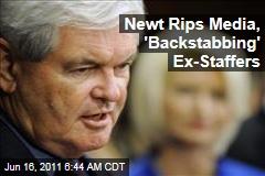 Newt Gingrich Attacks 'Reprehensible' Media, 'Backstabbing' Former Staff