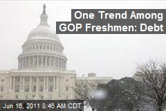 One Trend Among GOP Freshmen: Debt