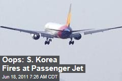 South Korean Marines Mistakenly Fire at Asiana Airlines Passenger Plane