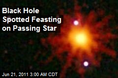Black Hole Spotted Feasting on Passing Star