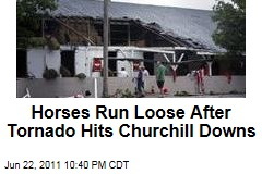Louisville Tornado Damages Churchill Downs