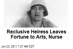 Reclusive Heiress Huguette Clark Leaves $400 Million Estate to Arts, Nurse ... and Her Lawyer, Accountant