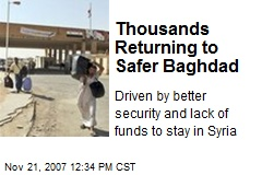 Thousands Returning to Safer Baghdad