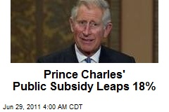Prince Charles' Public Subsidy Leaps 18%