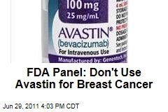 FDA Panel Votes to Recommend Revoking Approval of Avastin as Breast Cancer Drug