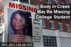 Body in Creek May Be Missing College Student