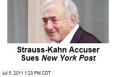 Maid in Strauss-Kahn Case Sue New York Post for Libel Over Prostitute Report