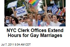 New York City Clerk Offices to Extend Hours on Sunday, July 24, When Gay Marriage Becomes Legal