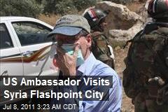 US Ambassador Visits Syria Flashpoint City