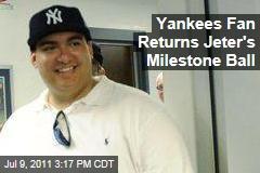 Yankees Fan Christian Lopez Returns Derek Jeter's Milestone Baseball