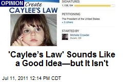 'Caylee's Law' Sounds Like a Good Idea—but It Isn't