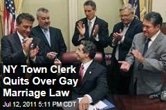 New York Town Clerk Quits Over Gay Marriage Law