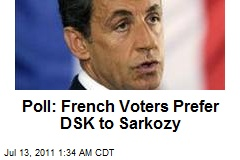 Poll: French Voters Prefer DSK to Sarkozy