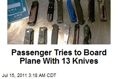 Passenger Tries to Board Plane With 13 Knives