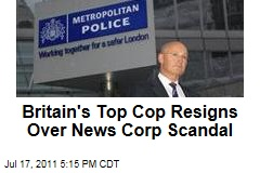 Sir Paul Stephenson, Metropolitan Police Chief, Resigns Over News of the World Phone Hacking Scandal