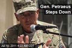 Gen. Petraeus Steps Down