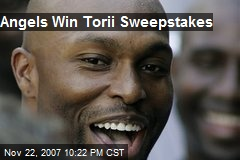 Angels Win Torii Sweepstakes
