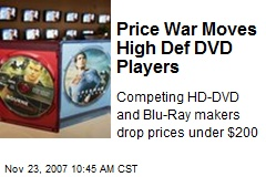 Price War Moves High Def DVD Players