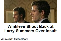 Winklevoss Twins Shoot Back at Larry Summers