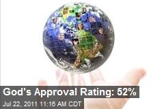 God's Approval Rating: 52%