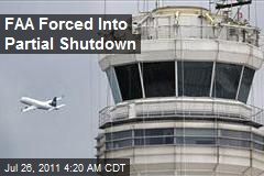 FAA Forced Into Partial Shutdown