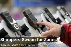 Shoppers Swoon for Zunes