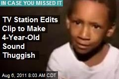 TV Station Edits Clip to Make 4-Year-Old Sound Thuggish