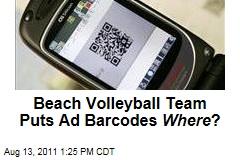 British Volleyball Players Put QR Codes on Their Bikini Bottoms