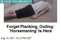 Forget Planking, Owling: 'Horsemaning' Is Here