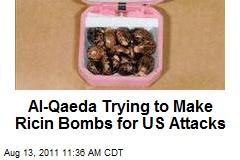 Al-Qaeda Trying to Make Ricin Bombs for US Attacks
