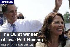 The Quiet Winner of Iowa Poll: Romney
