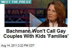 Michele Bachmann Won't Call Gay Couples With Kids 'Families' (Meet the Press Video)