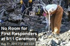 No Room for First Responders at 9/11 Ceremony