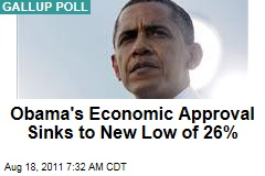 Gallup Poll: President Obama's Economic Approval Sinks to New Low of 26%