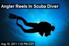 Angler Reels In Scuba Diver
