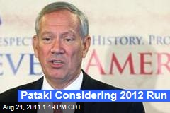 Former New York Governor George Pataki Considering 2012 Run for President