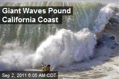 Giant Waves Pound California Coast