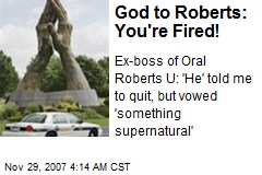 God to Roberts: You're Fired!