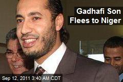 Gadhafi Son Flees to Niger