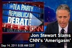 Jon Stewart Slam's CNN's 'Amerigasm' Debate ('Daily Show' Video)