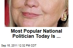 Hillary Clinton Is America's Most Popular National Politician