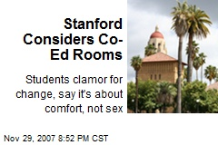 Stanford Considers Co-Ed Rooms