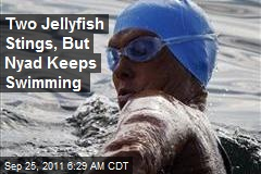 Two Jellyfish Stings, But Nyad Keeps Swimming