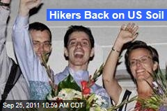 Hikers Shane Bauer, Josh Fattal Back on US Soil